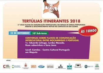 Conversas sobre fluxos de comunicação intercultural entre Moçambique e Portugal